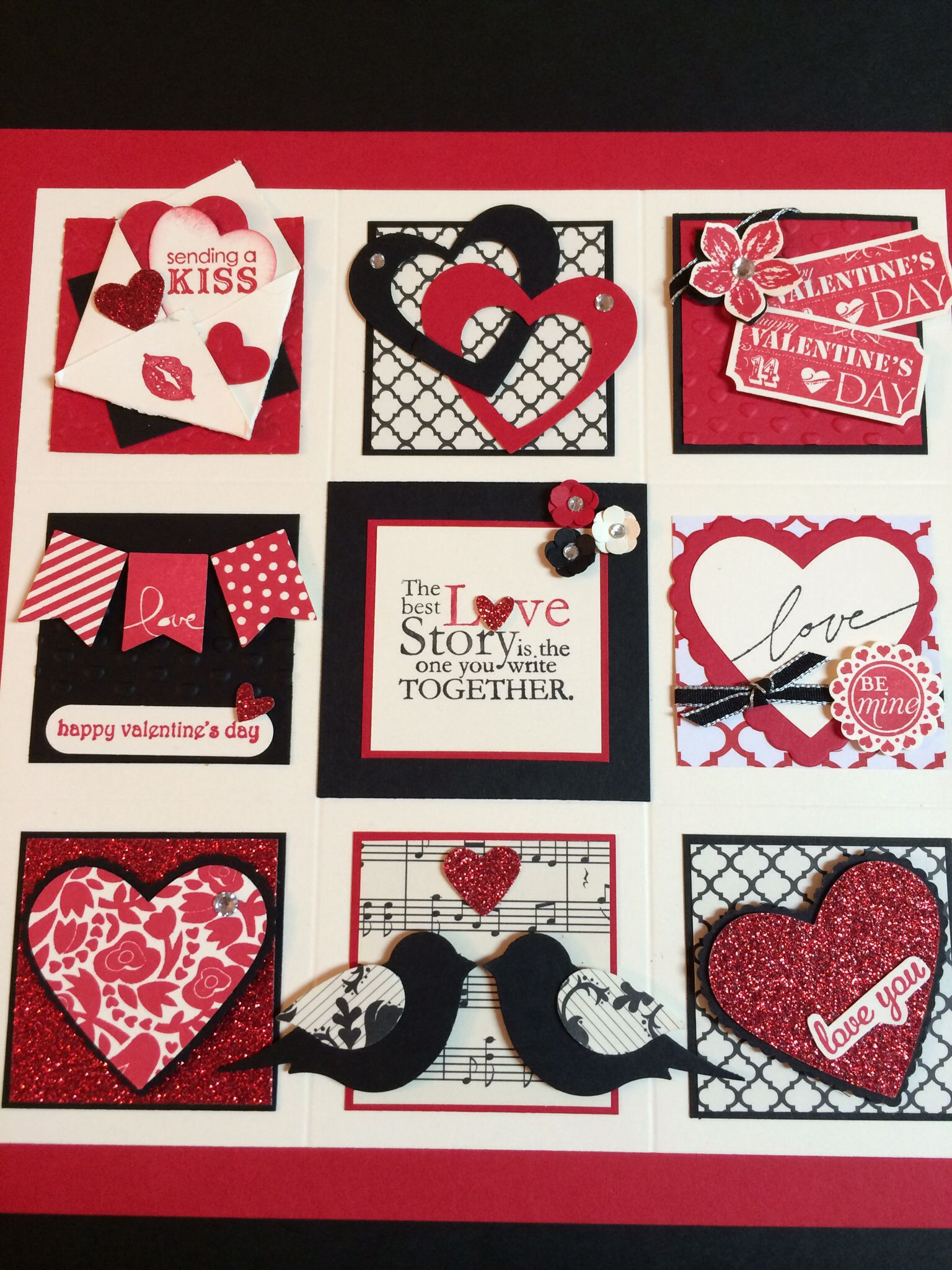 Stampin' Up Valentine Sampler made this during a class