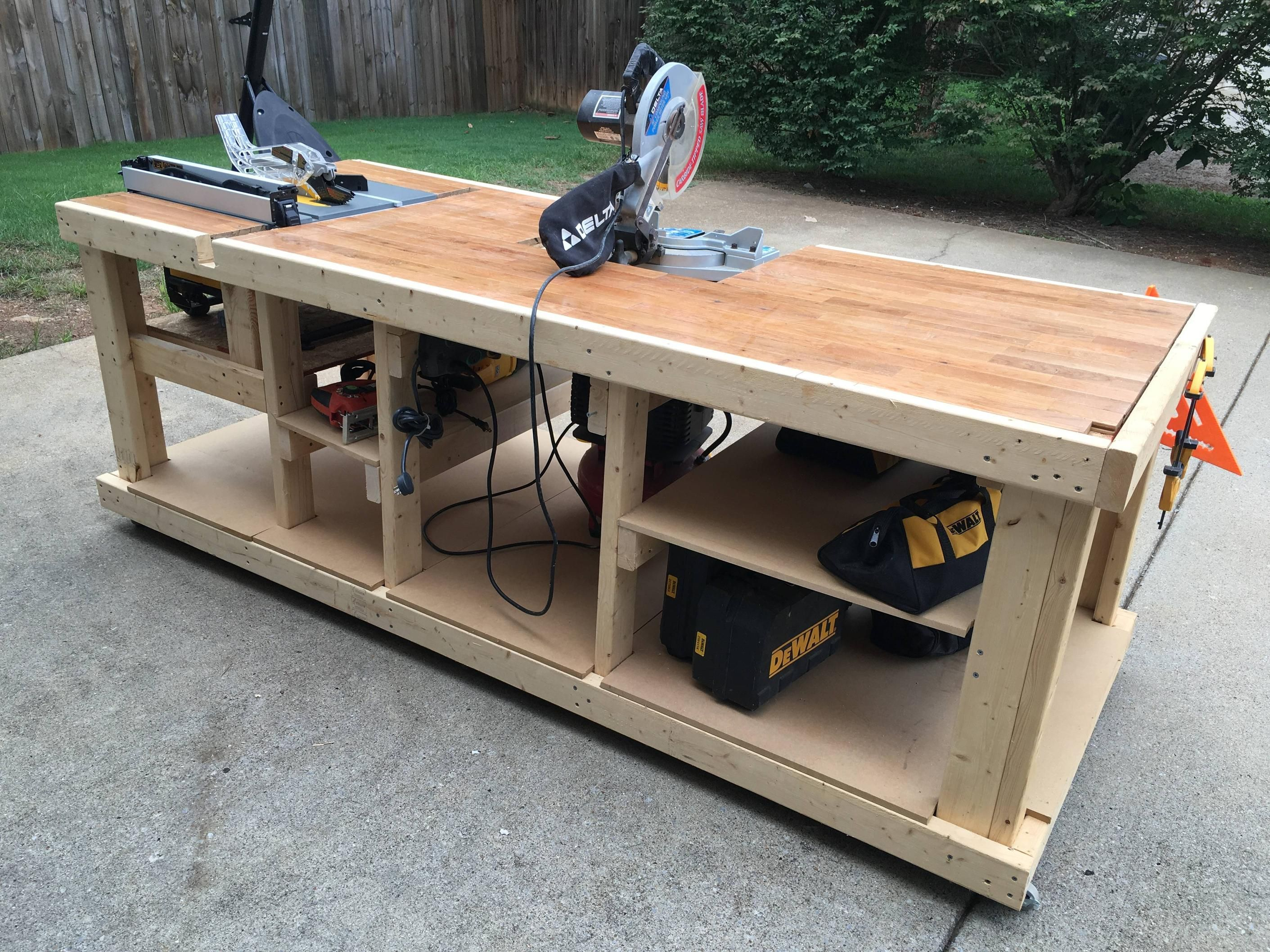 I built a mobile workbench Imgur Workbenches