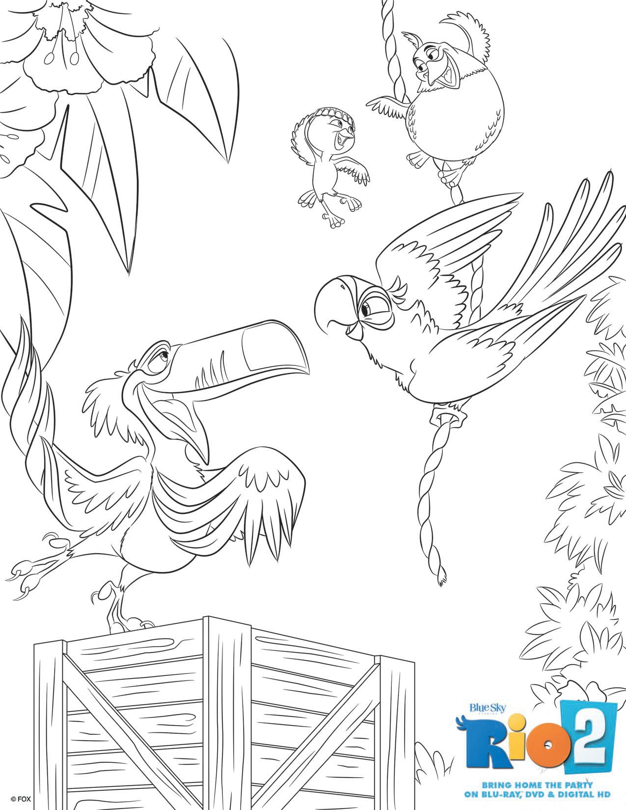 Rio 2 Coloring Pages To Download Part 2
