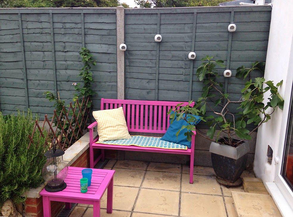 Cuprinol shades sweet sundae painted bench Garden