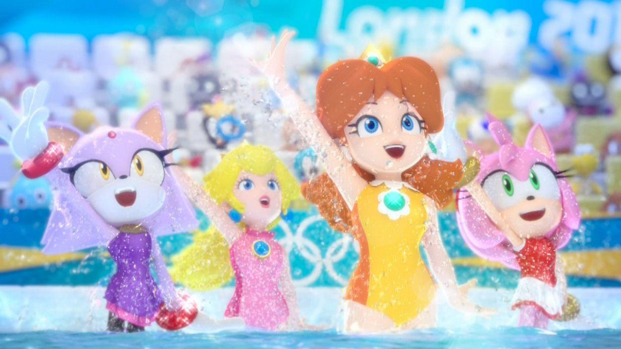 Blaze The Cat, Princess Peach, Princess Daisy & Amy Rose