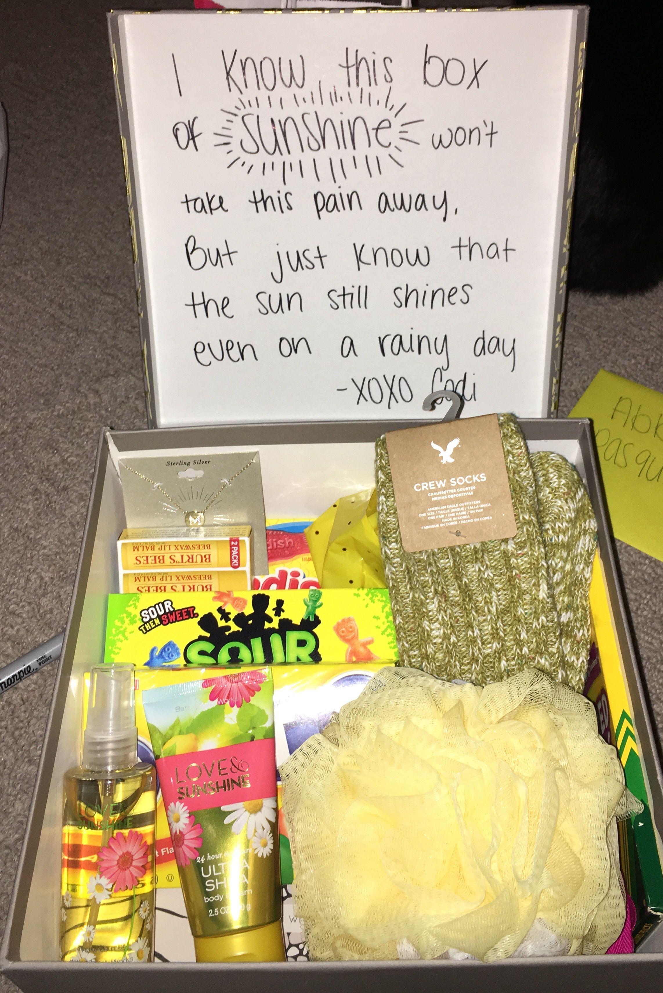 care package for grieving friend Good idea! Pinterest