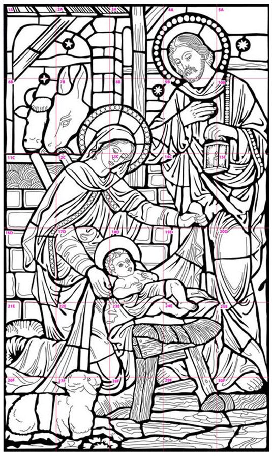NativityMuraldiagram Art Pinterest Christmas