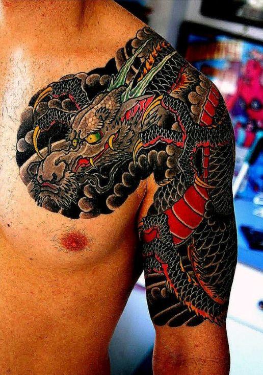 Half Sleeve Tattoos For Men Dragons Men's Tattoo Ideas