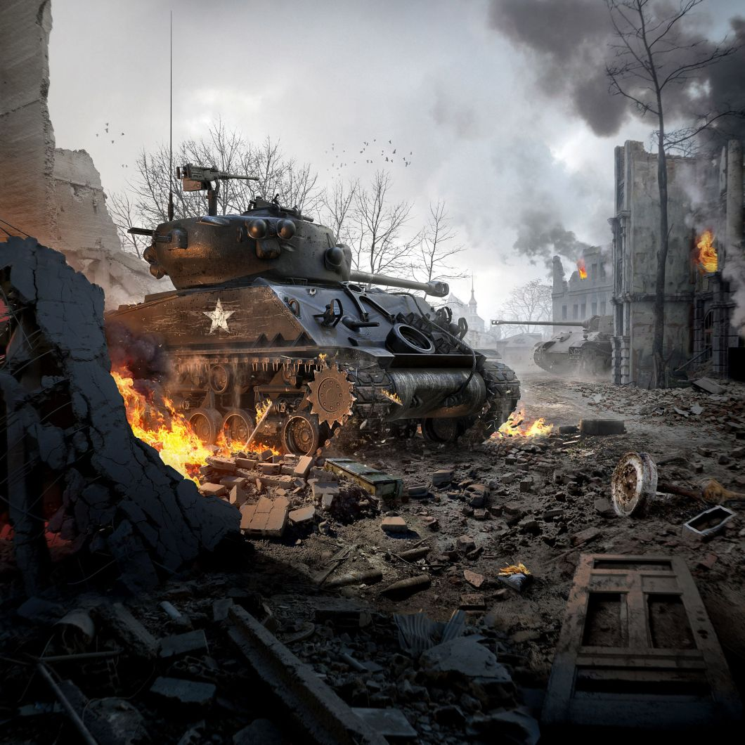 M4a3e8 Sherman World Of Tanks Blitz Wallpapers