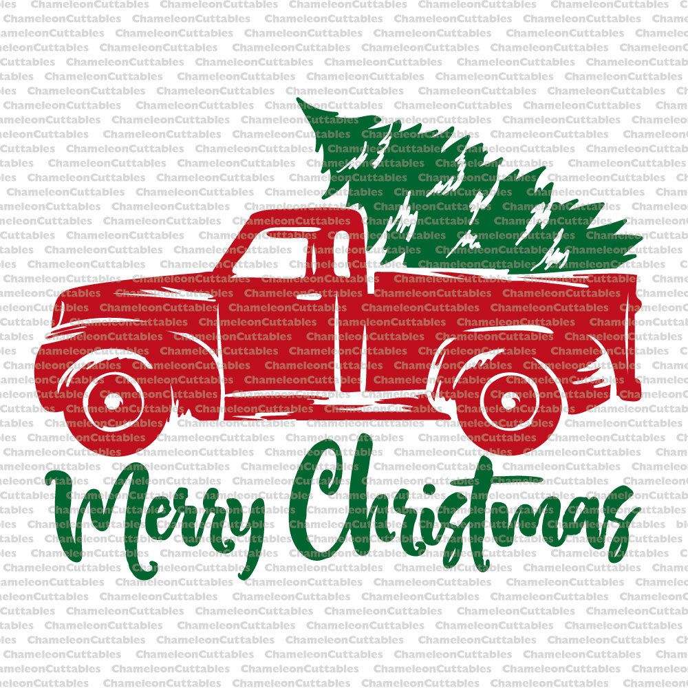 Red truck Etsy Cricut Pinterest Tree clipart