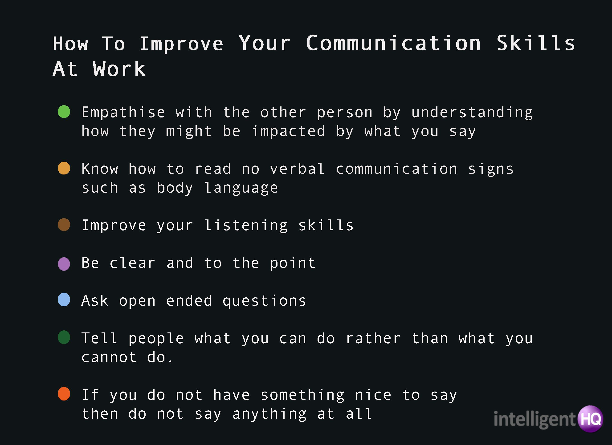 7 Ways To Improve Your Communication Skills Intelligenthq