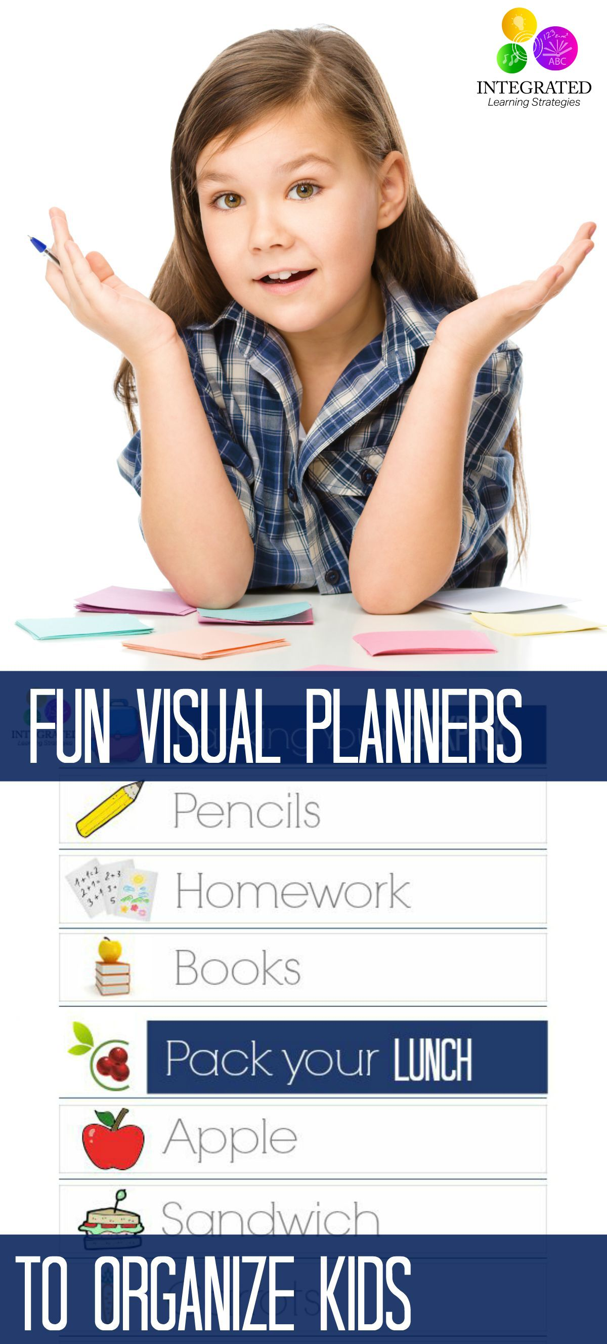 Executive Function Visual Charts For Kids Struggling With Executive Function Amp Organization