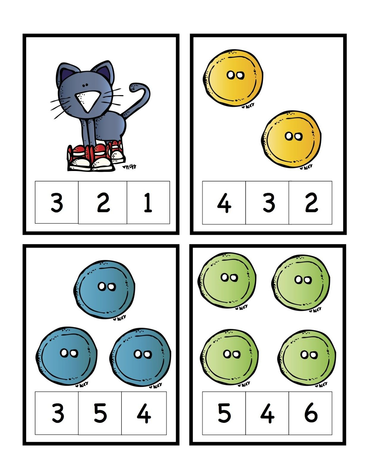 Math Center Ideas Students Can Color In Numeral That