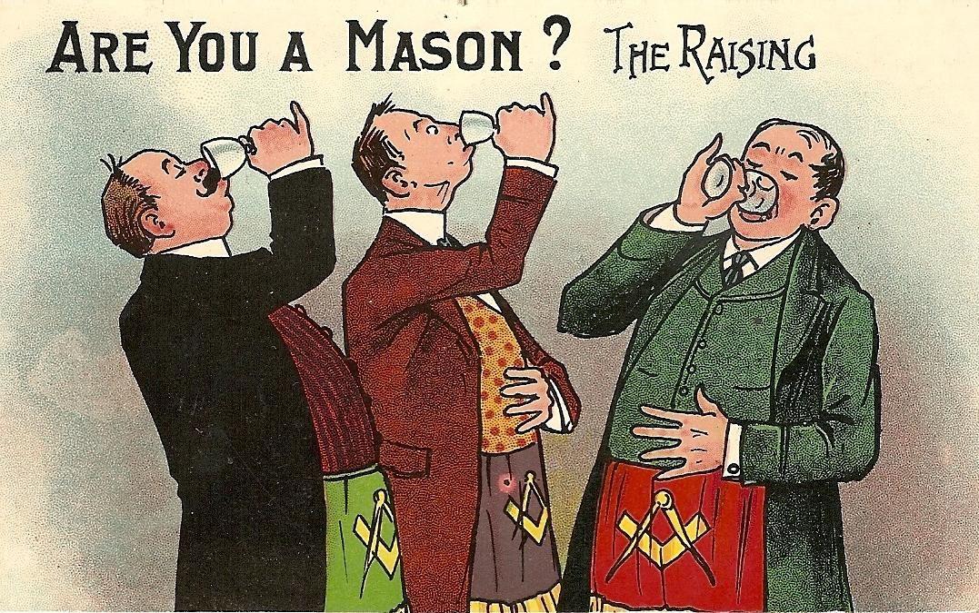Are you a mason humorous postcards masonic and secret