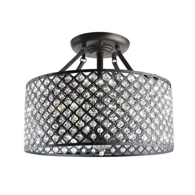 Antique Bronze 4 Light Round Crystal Chandelier Designs