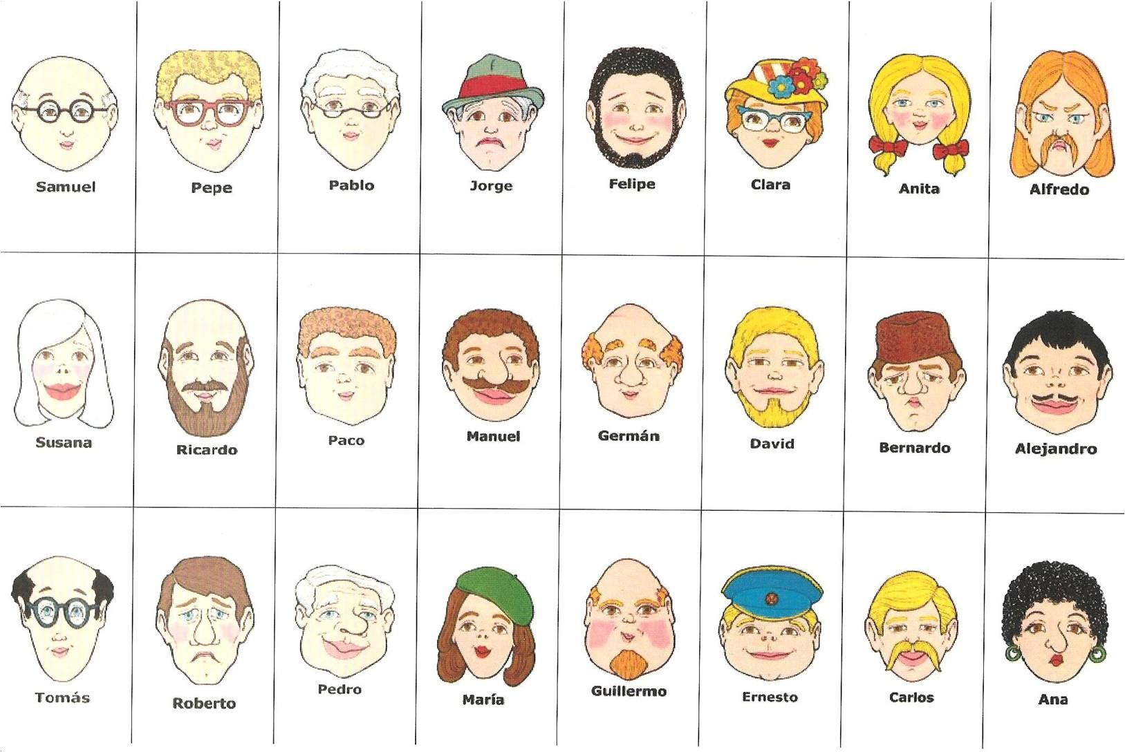 My Spanish And French Teacher Blog Archive Games For Learning Guess Who