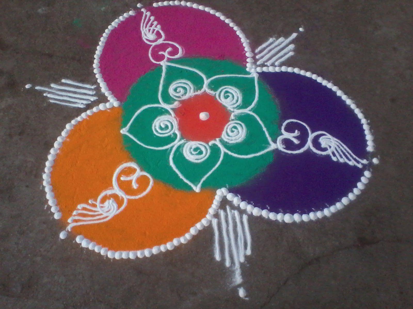 easy and simple sanskarbharti rangoli design. Sanskar