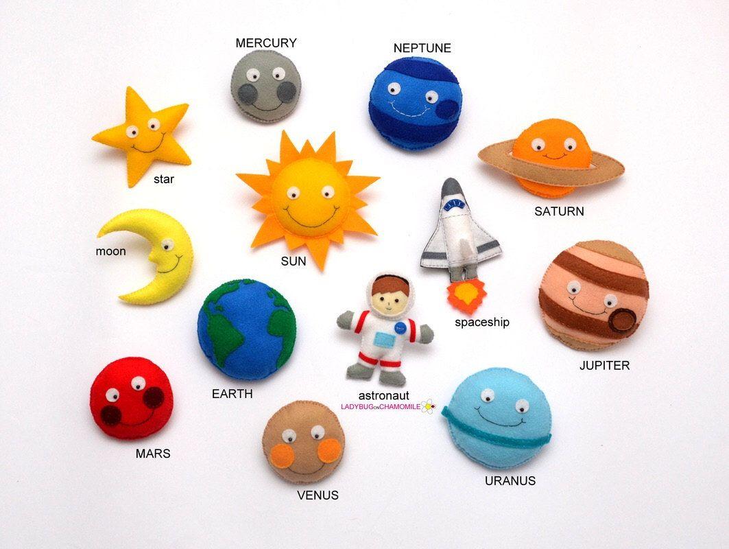 Space For Kids Solar System Felt Fridge Magnets