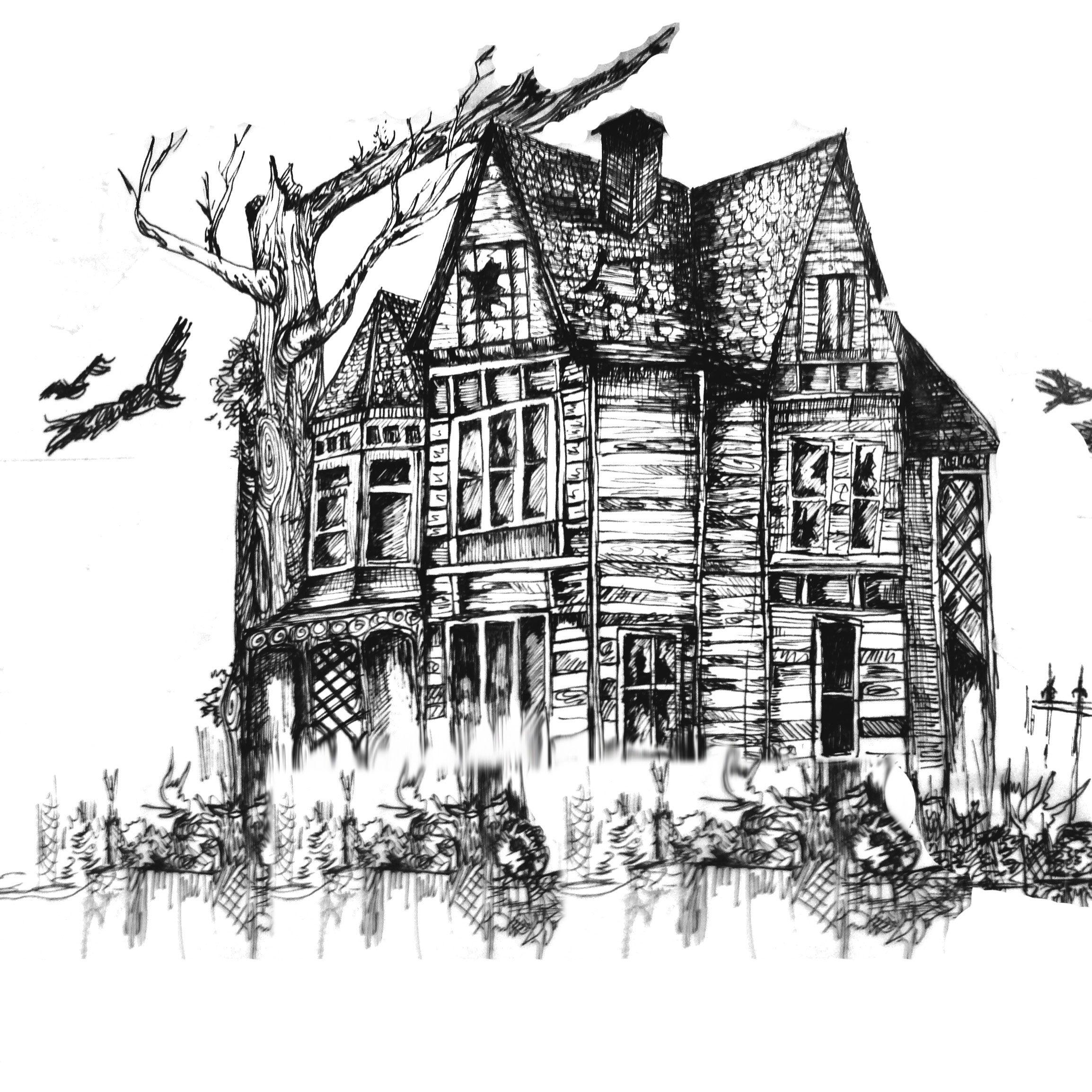 Haunted House Illustration Series