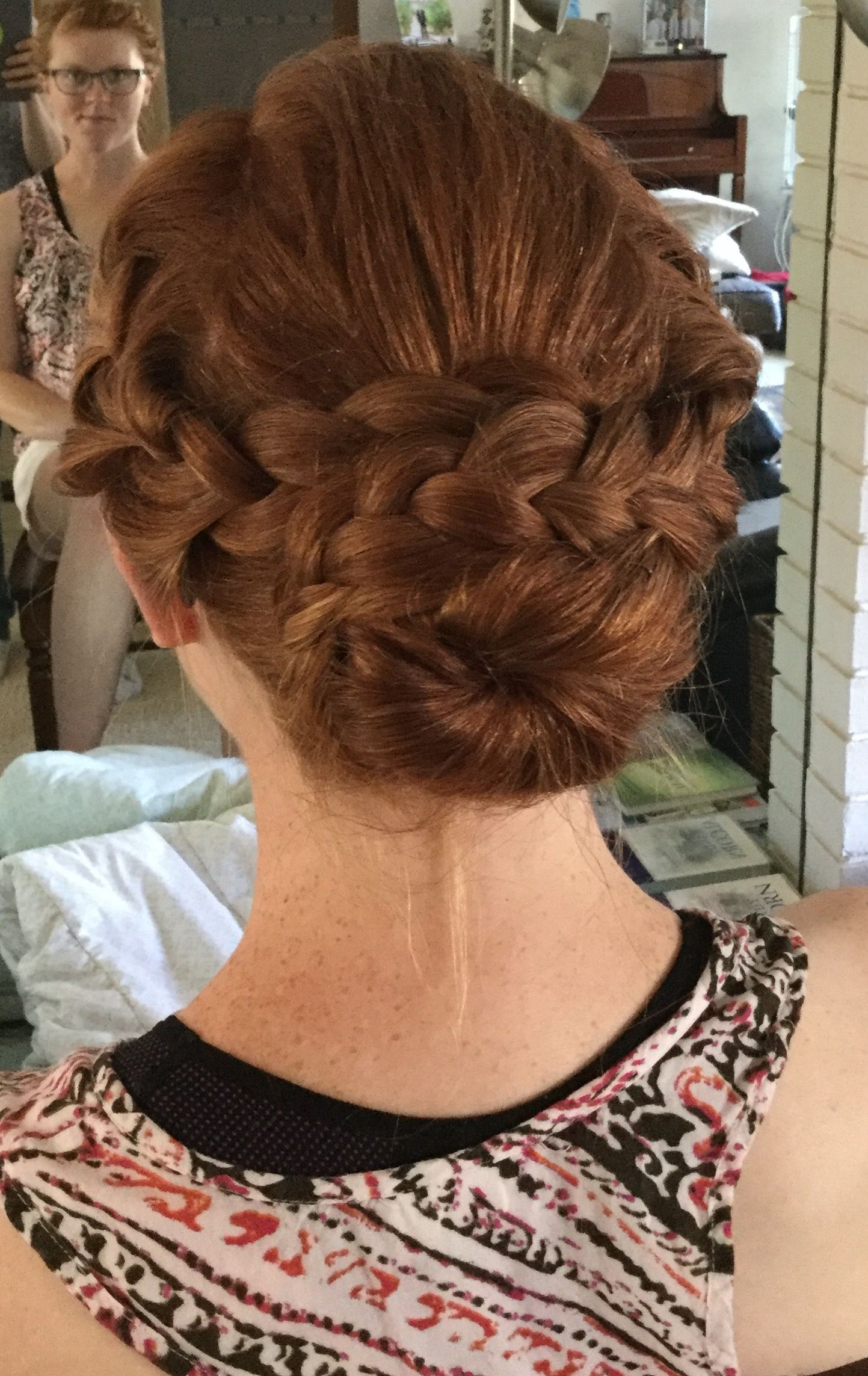 So Cal summer wedding hairstyle from Pinterest done by Jessie