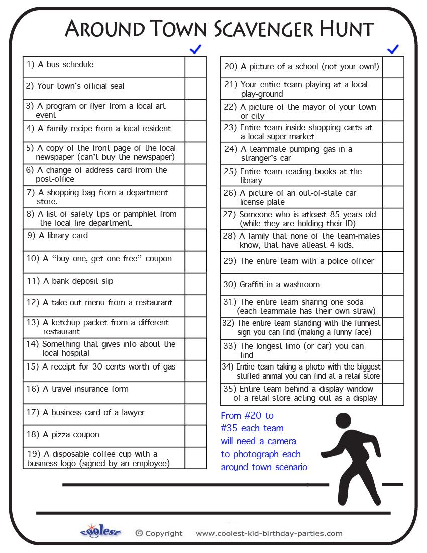 Free Printable Scavenger Hunt Previous Printable Next