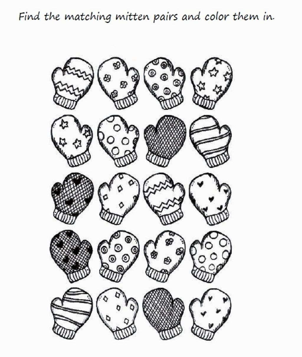 Mitten Coloring Pages Coloring Pages Pinterest Mittens