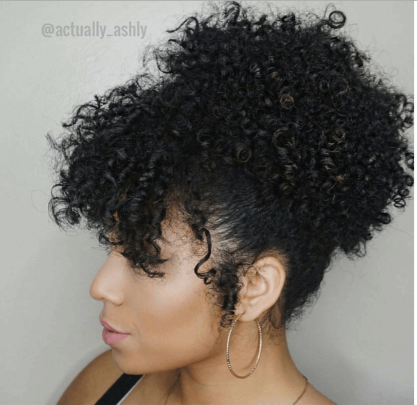 Quick Updo High Puff With Bangs Updo Natural And Hair