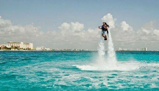 Resultado de imagen de jetpack sobre el agua