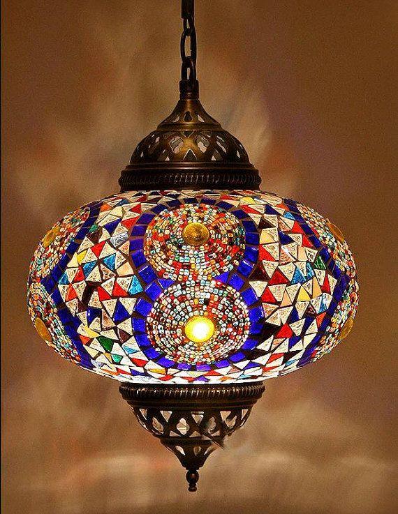 Handmade Mosaic Lamp Turkish Chandelier By Decorzen On Etsy 92 00