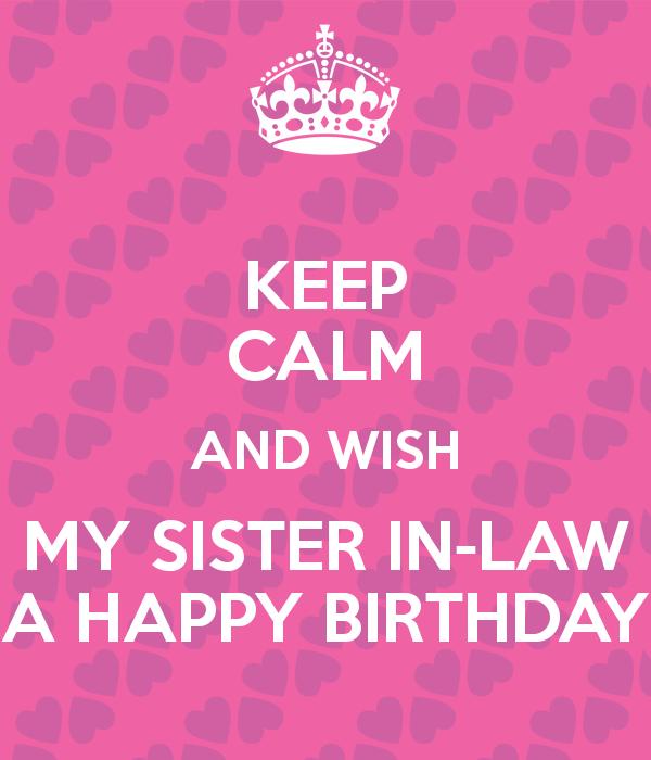 Happy Birthday Sister In Law Happy Birthday Pinterest
