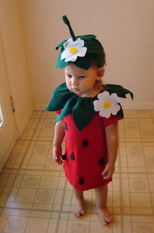 DIY Strawberry Do It Yourself Baby Costume Halloween