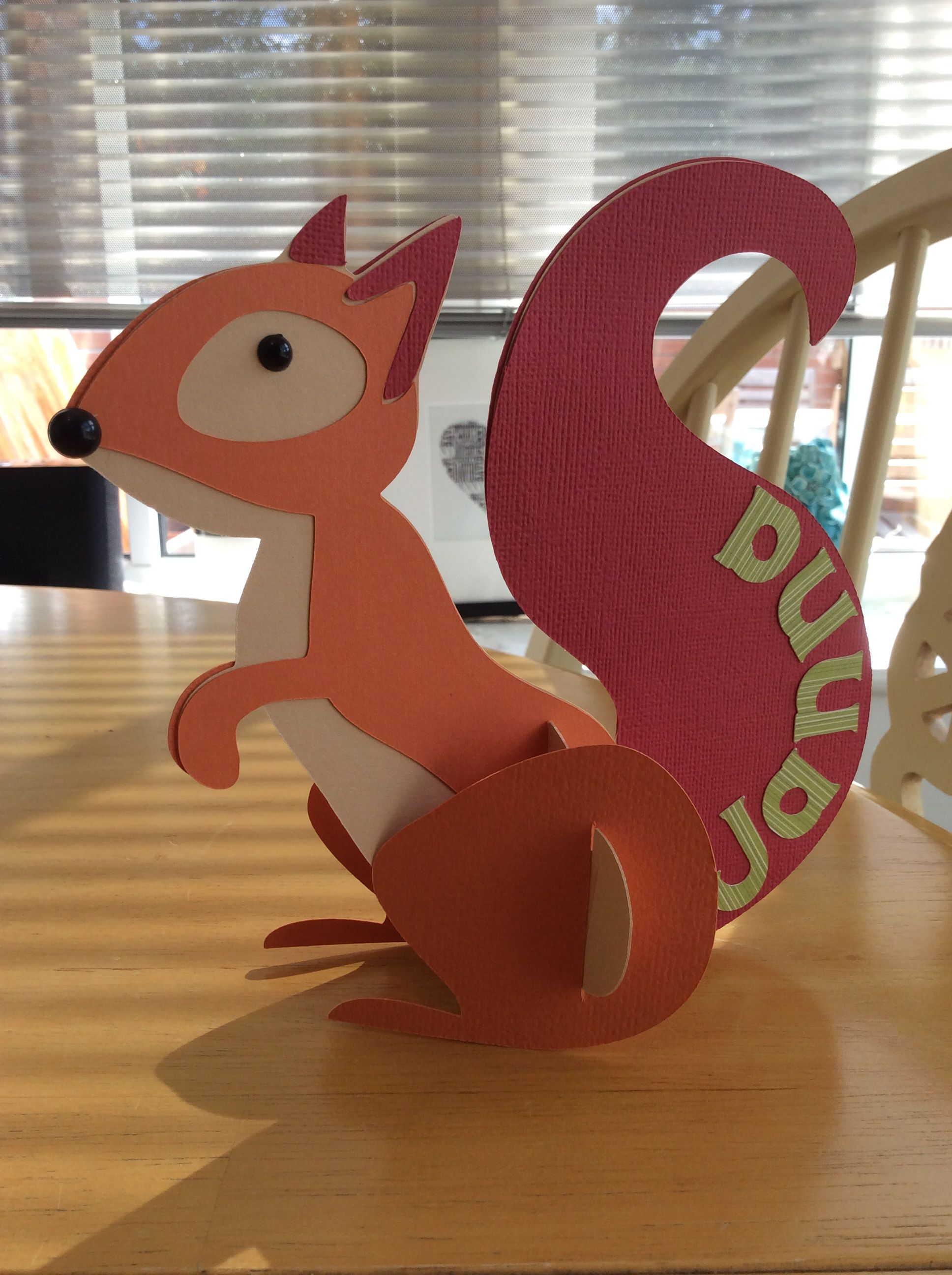 One more squirrel to the collection 3d Cricut Noah's