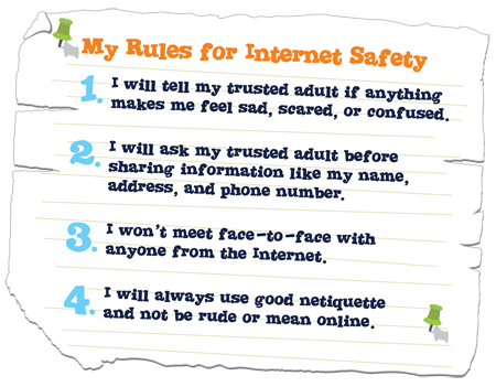 kids rules for online safety Поиск в Google