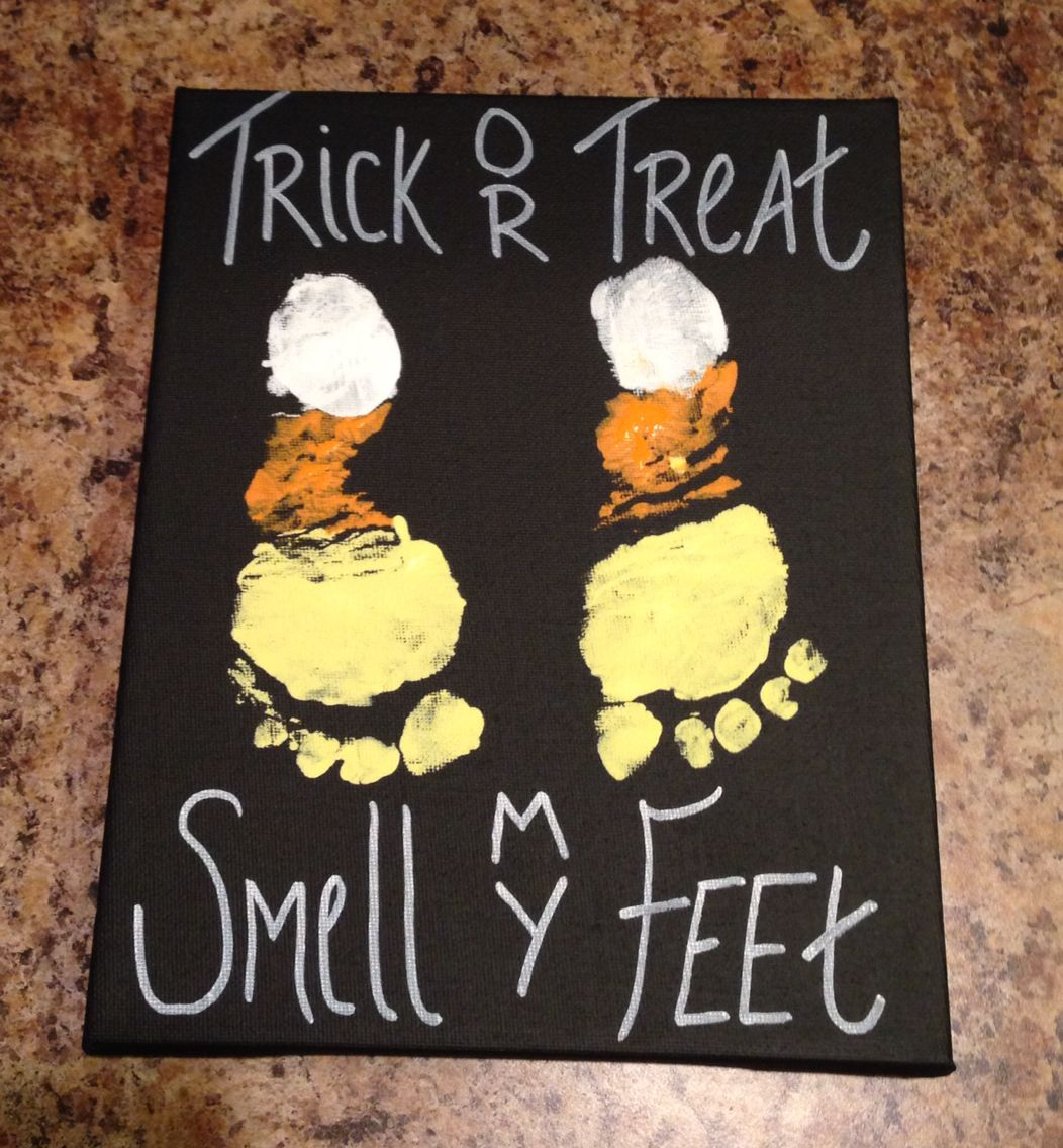 Halloween Craft For Kids With Painted Feet