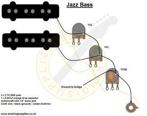 Jazz Bass Wiring Diagram | kie | Pinterest | Bass, Jazz