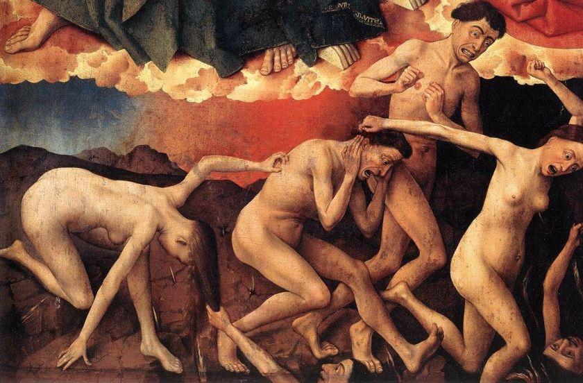 Image result for last judgment van der weyden damned