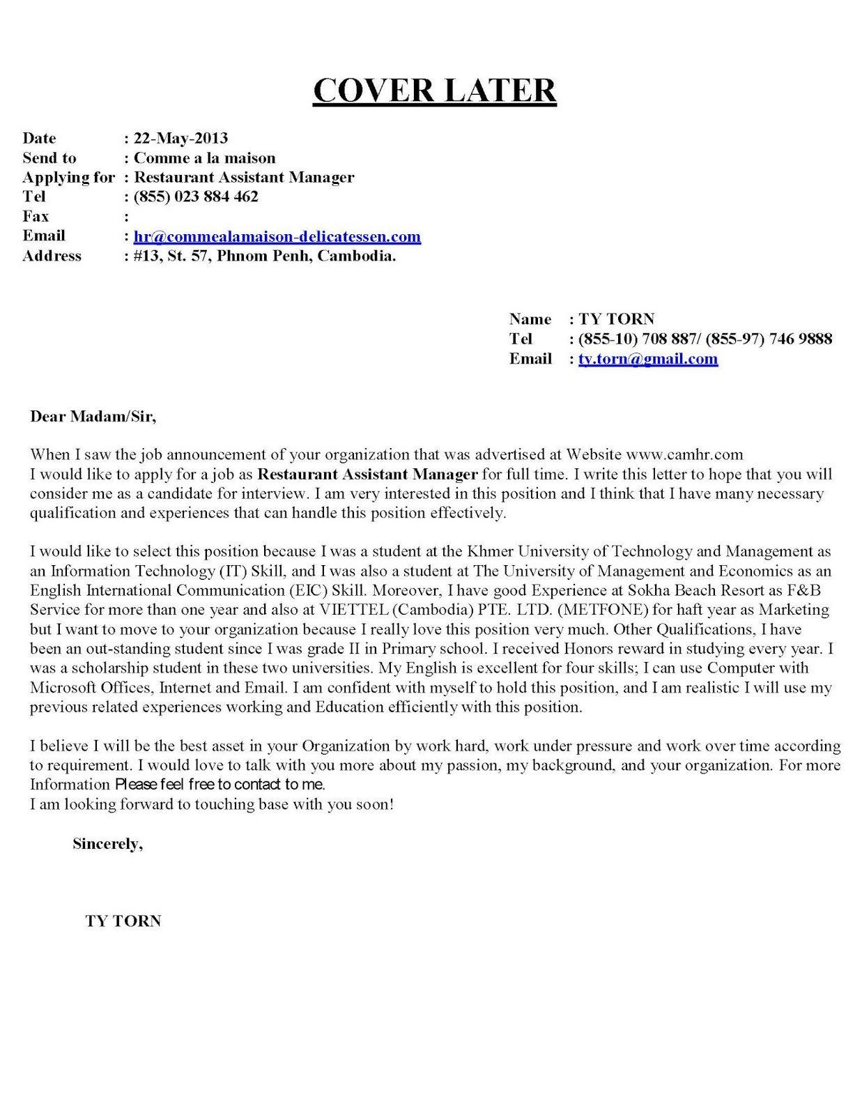 COVERING LETTER FOR CV New ImagesCover Letter For Resume