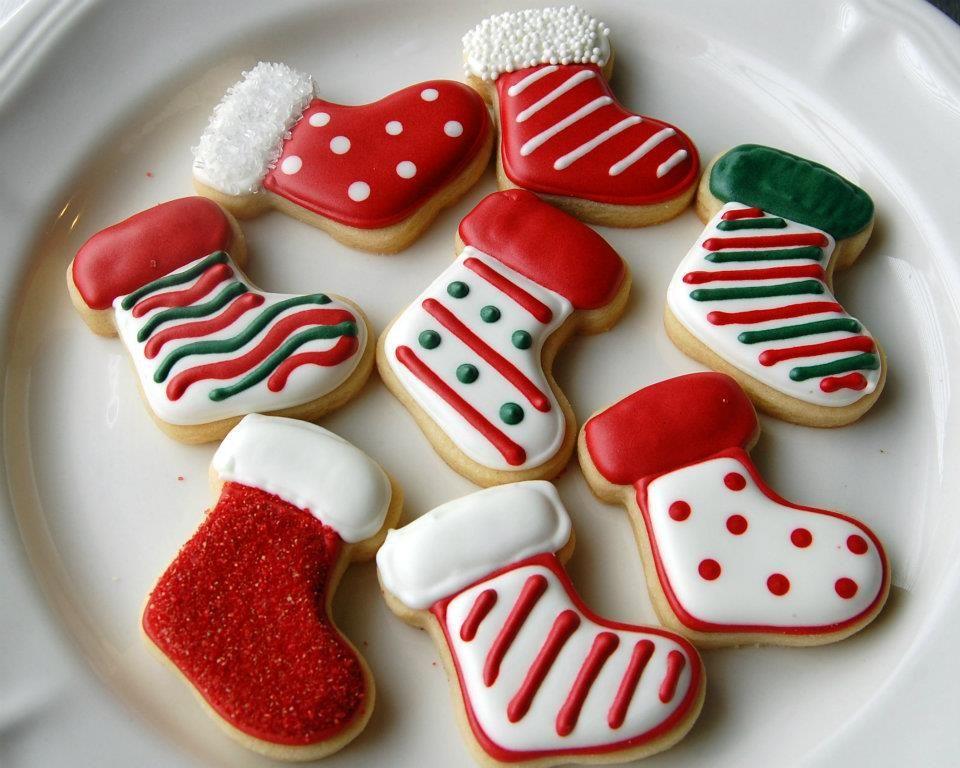 Christmas Cookies Royal Icing Cookies Pinterest