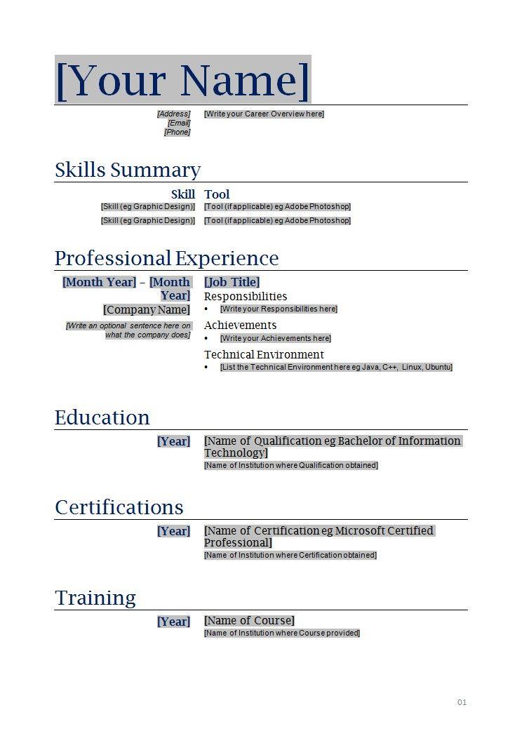 Free Functional Resume Template Word functional resume template – Functional Resume Template Word