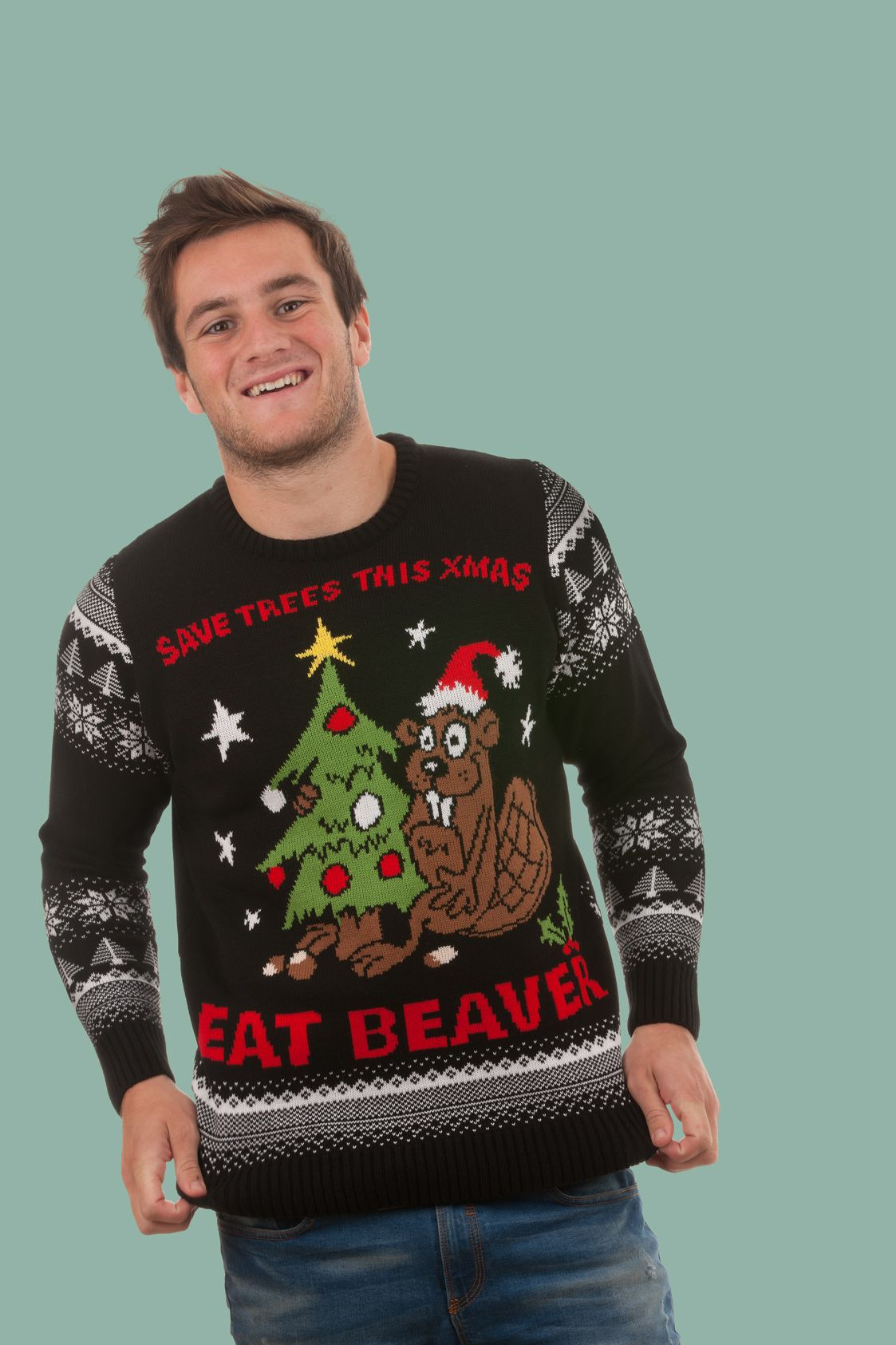 Image result for offensive christmas jumpers Rude