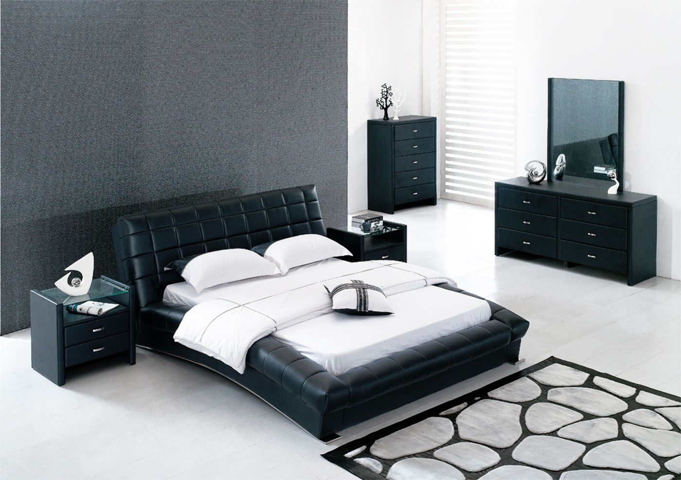 black leather bedroom furniture for contemporary bedroom sets with