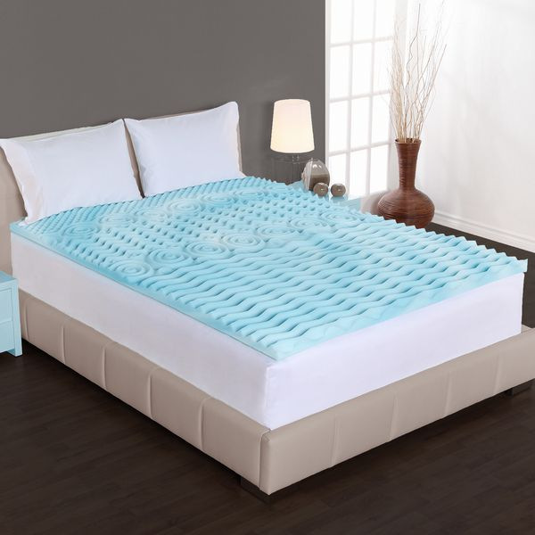 The Dream Form 2 Inch Orthopedic 5 Zone Gel Foam Egg Cratesmemory Mattress