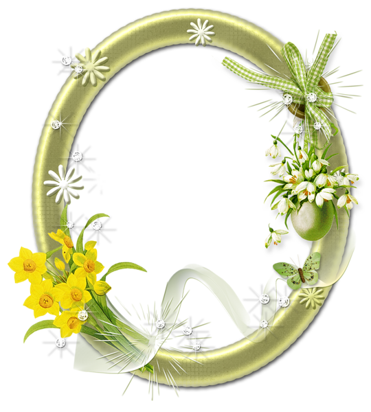 Cute Oval Frame with Flowers would be suitable for