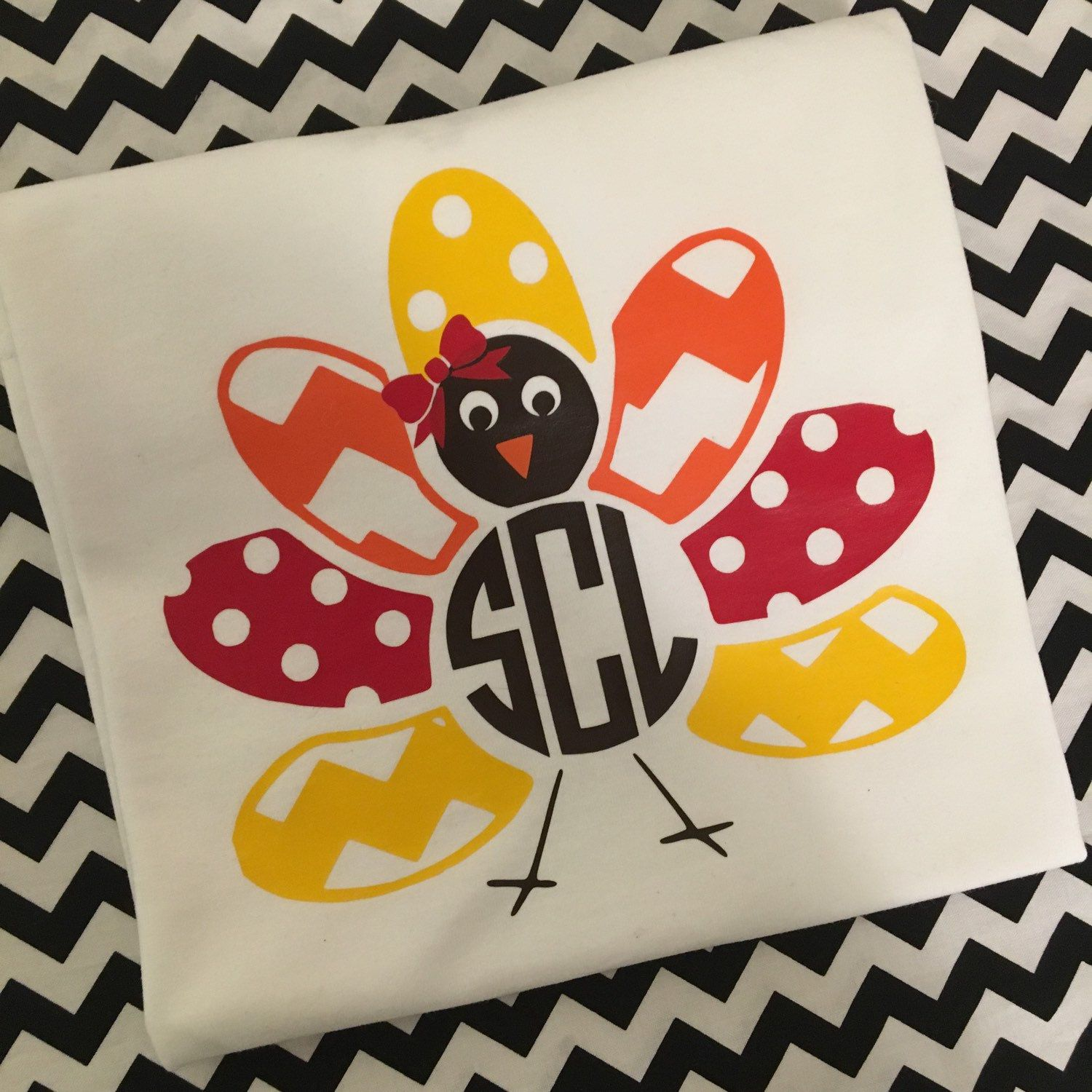 These adorable monogrammed turkey Shirts are perfect for