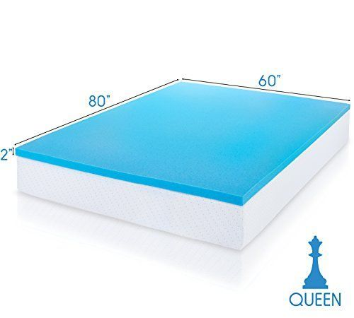 Viscosoft Cooling Comfort Gel Infused Memory Foam Mattress Topper 2 Inches Thick 3