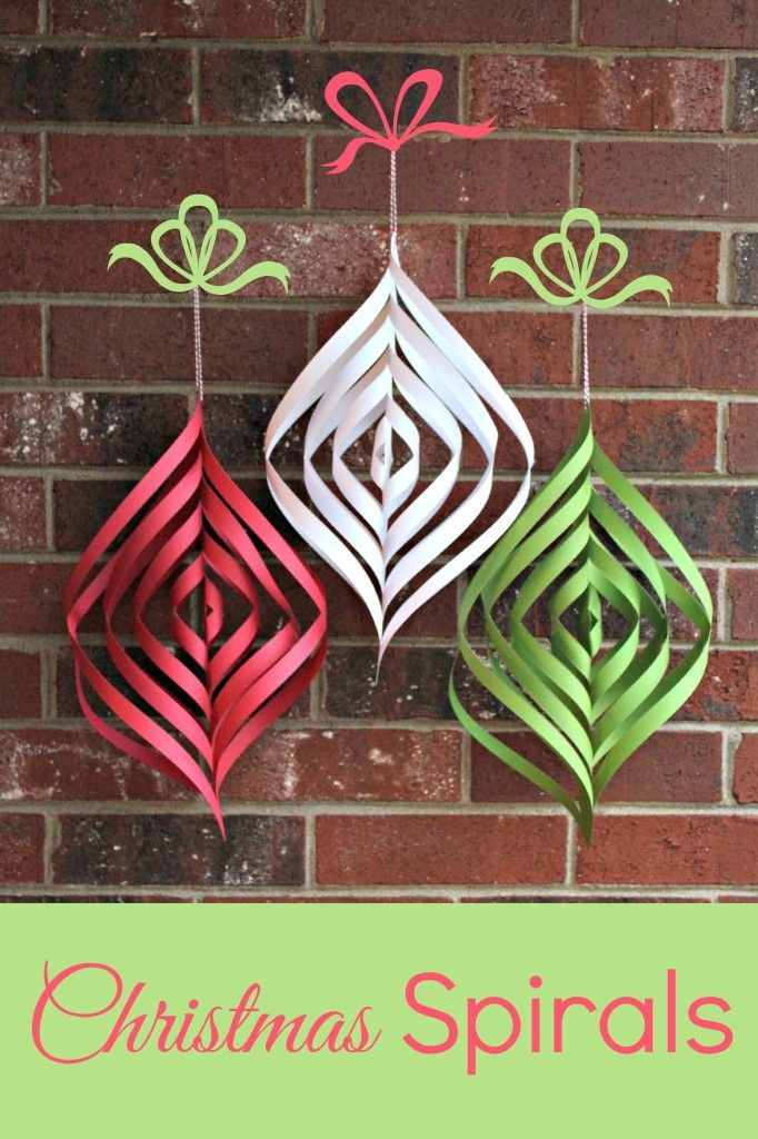 DIY Paper Christmas Spirals Spirals, DIY Christmas and