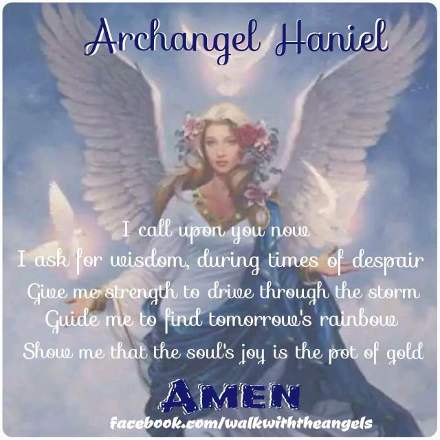 Archangel haniel prayer archangel and angel prayers