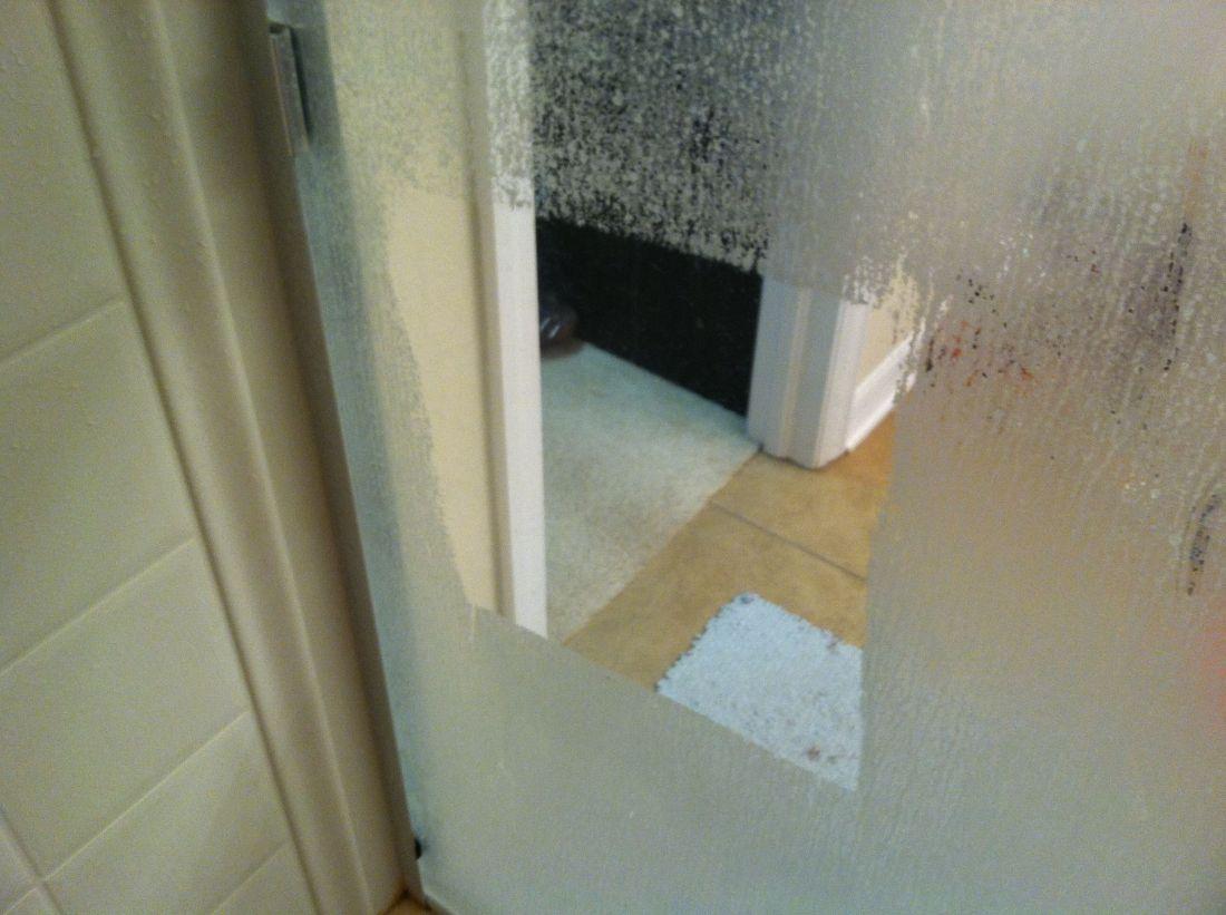 Easiest way to clean glass shower doors soak paper towels