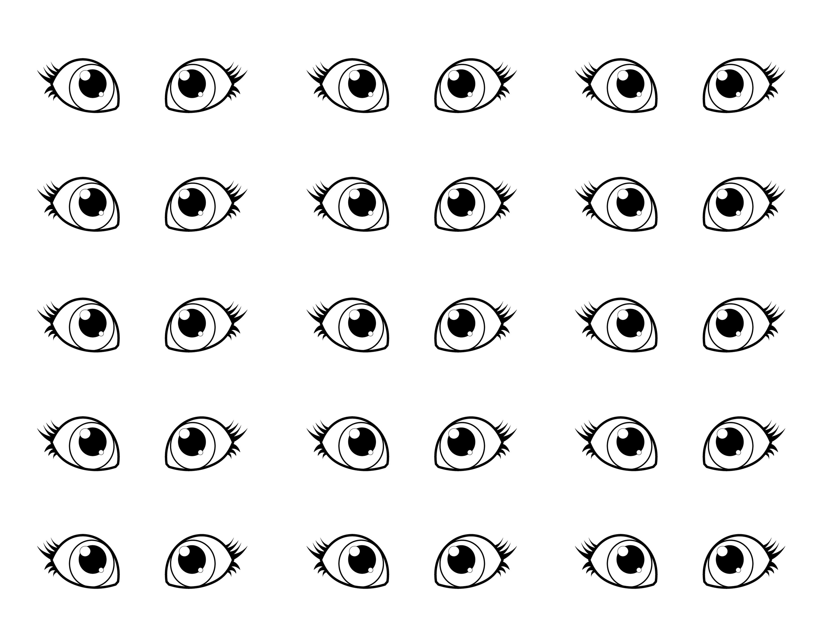 Copic Template For Coloring Eyes