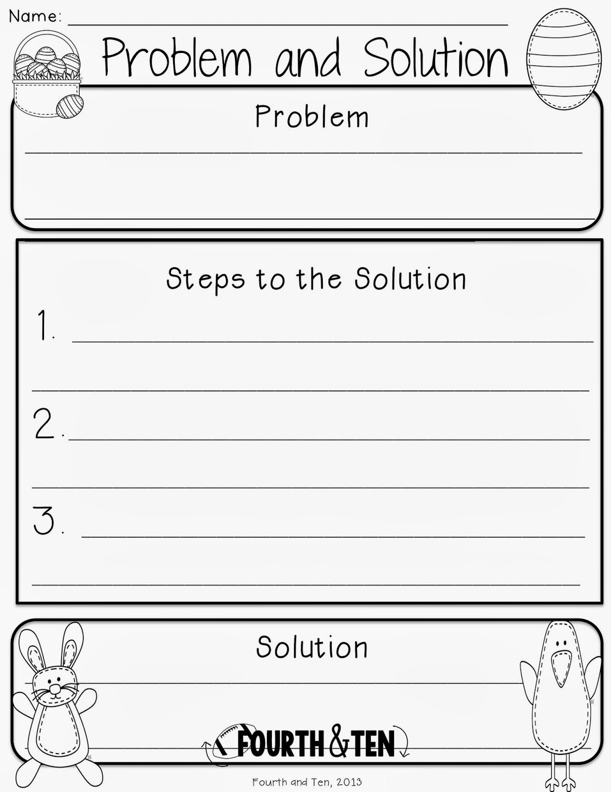 Easter Graphic Organizers