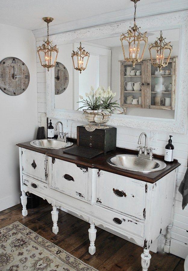 DIY Salvaged Junk Projects 381 Dresser vanity, Funky