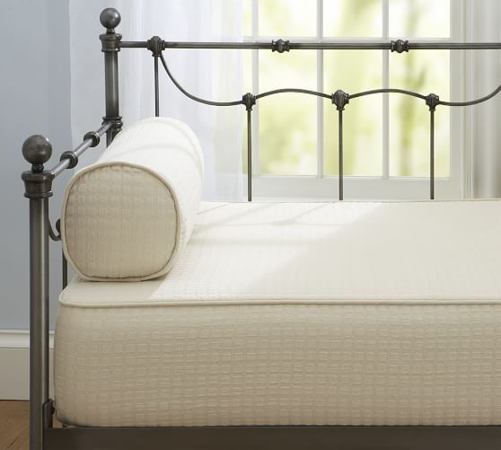 Cameron Organic Cotton Matelasse Daybed Twin Mattress Cover Natural