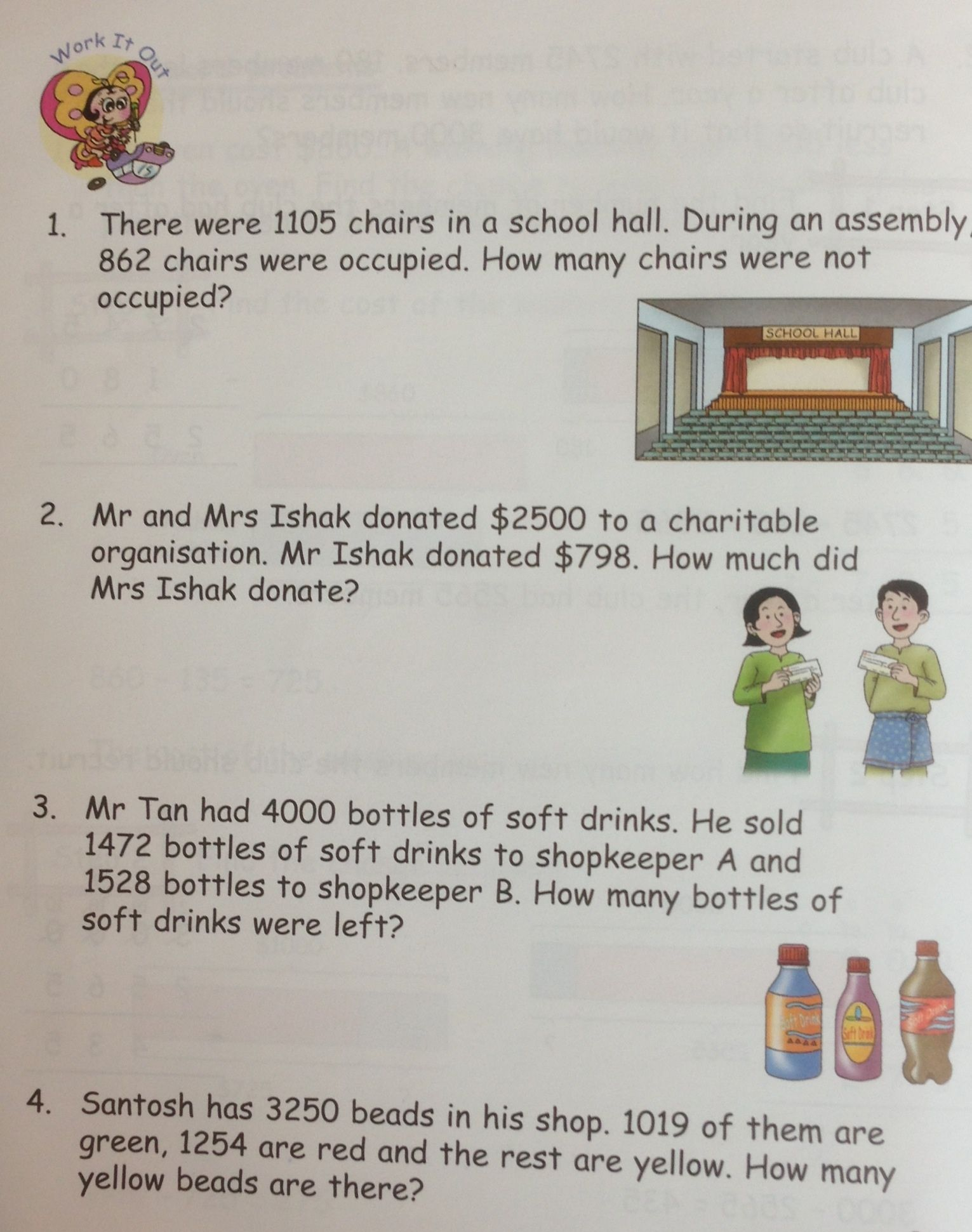 Some Grade 3 Word Problems On Subtraction From In Step Maths 3a Singapore Math