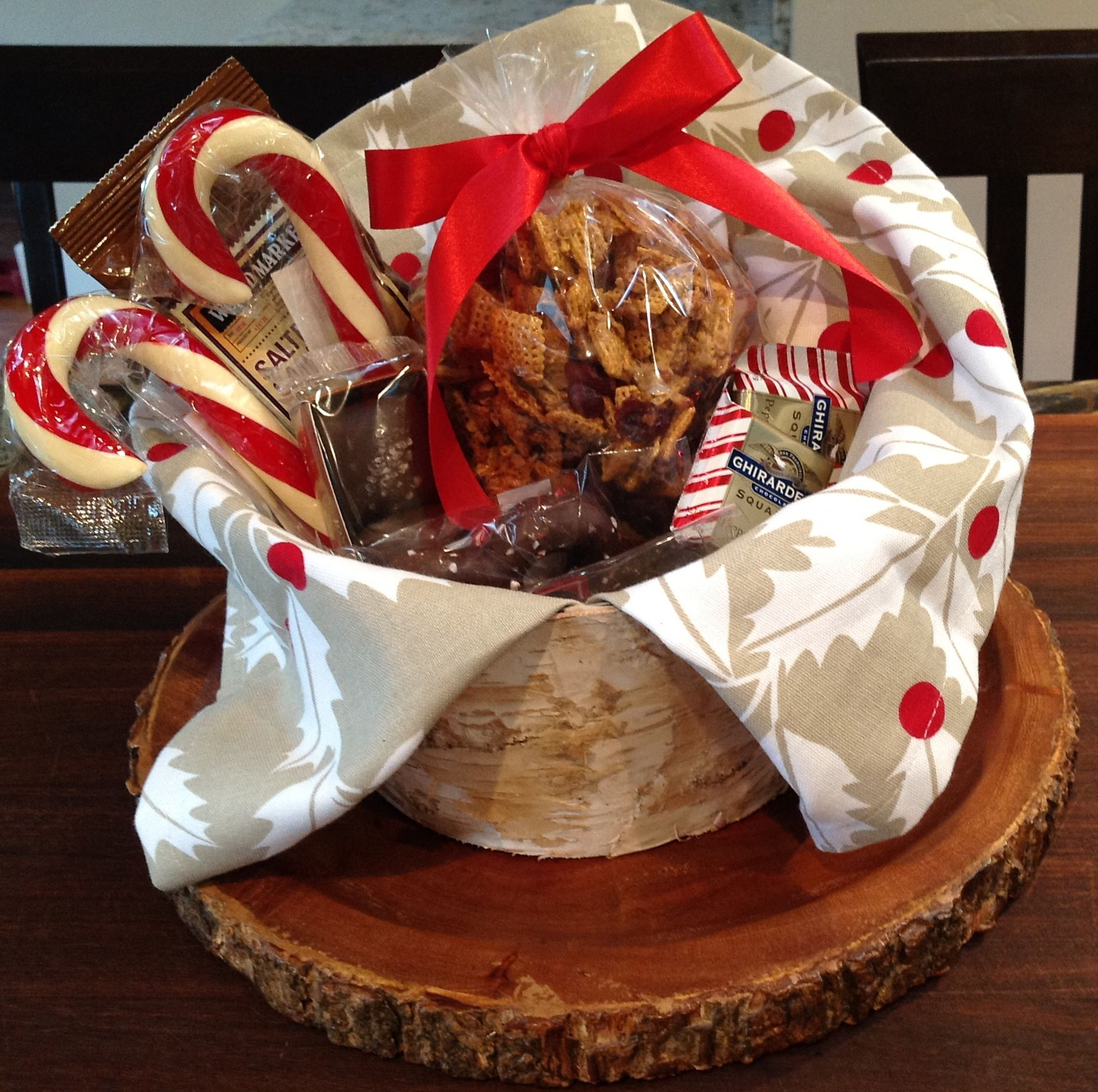 Christmas gift basket Towel Crate & Barrel Candy Cost